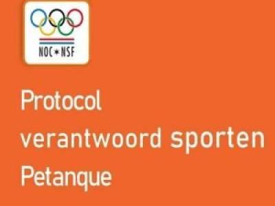 Protocol Verantwoord Sporten Petanqueversie 1 juni 2021