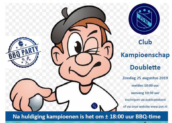 Clubkampioenschappen Doubletten
